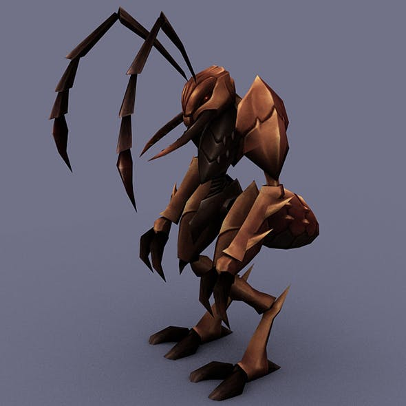 BSoldier Ant - 3DOcean Item for Sale