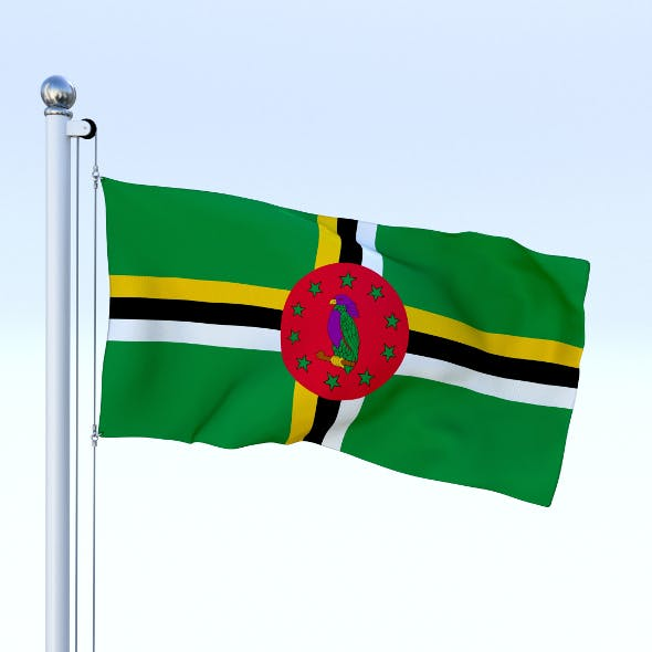Animated Dominica Flag - 3DOcean Item for Sale
