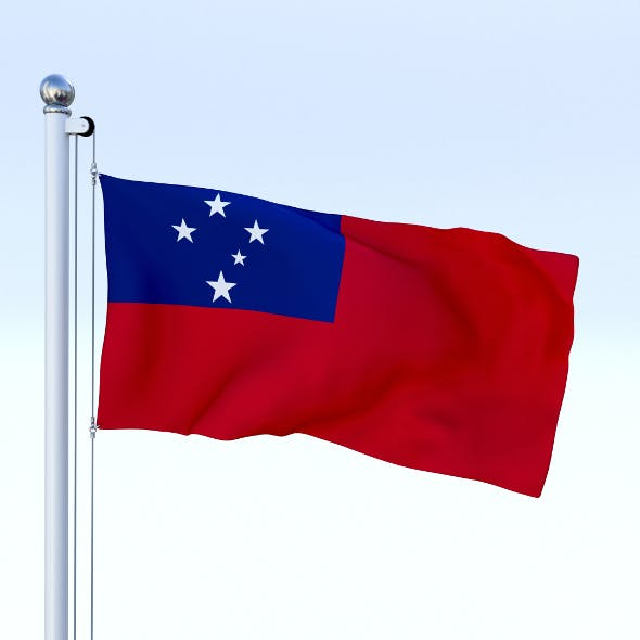 Animated Samoa Flag - 3DOcean Item for Sale