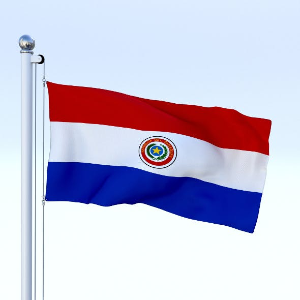 Animated Paraguay Flag - 3DOcean Item for Sale