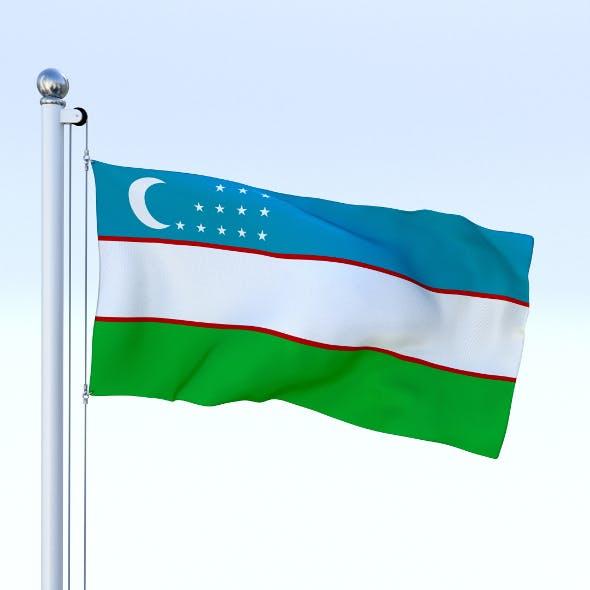 Animated Uzbekistan Flag - 3DOcean Item for Sale