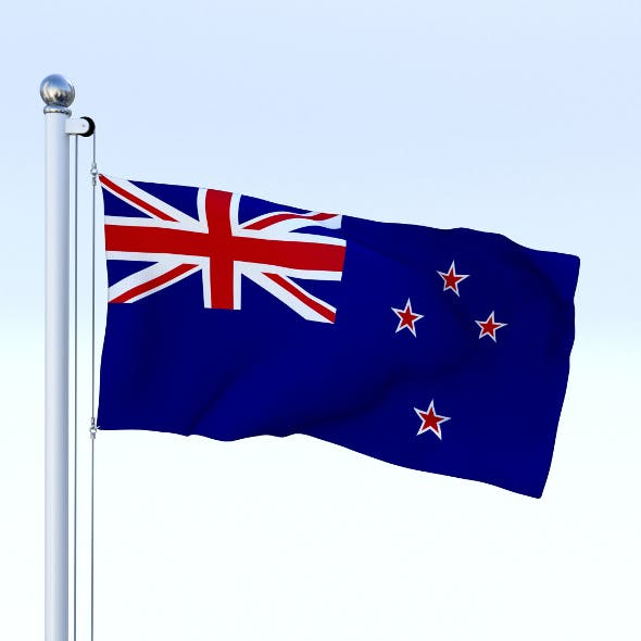 Animated New Zealand Flag - 3DOcean Item for Sale