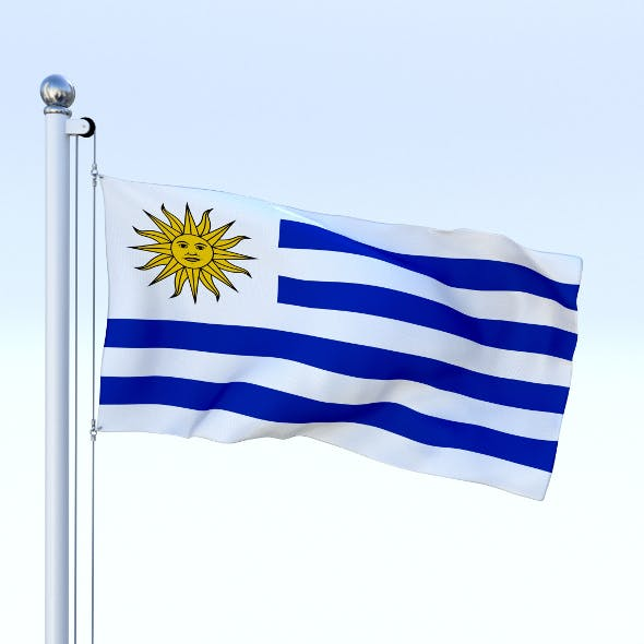 Animated Uruguay Flag