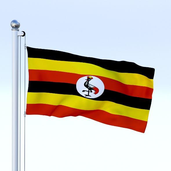 Animated Uganda Flag