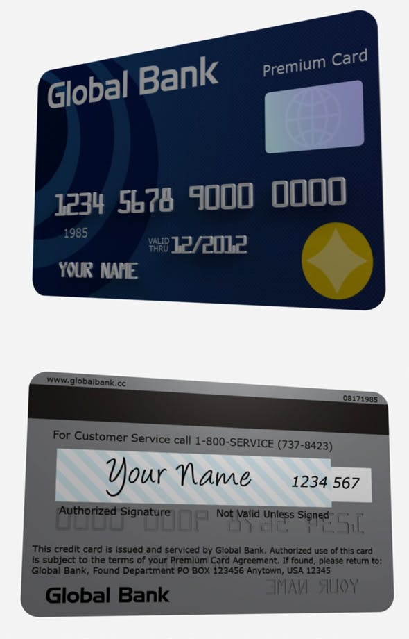 Cinema 4D Credit/ Debit Card - 3DOcean Item for Sale