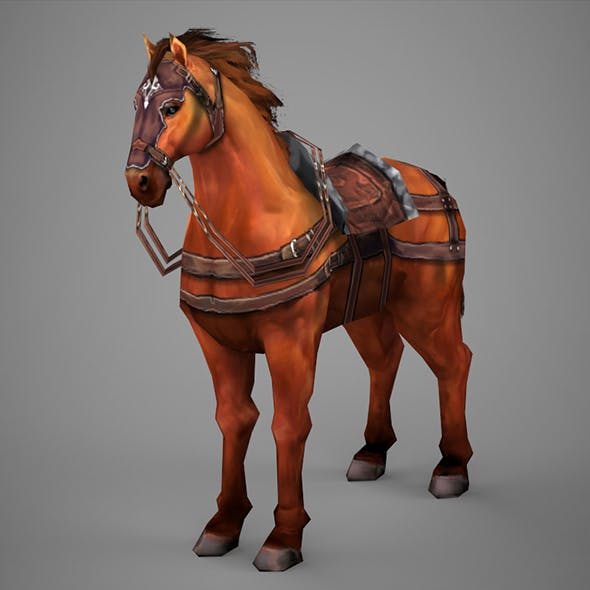 Lowpoly Medieval Horse