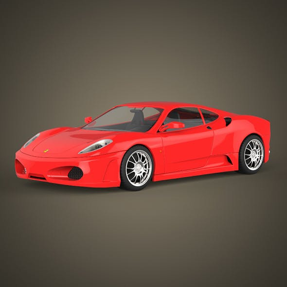 Realistic Sports Car - 3DOcean Item for Sale