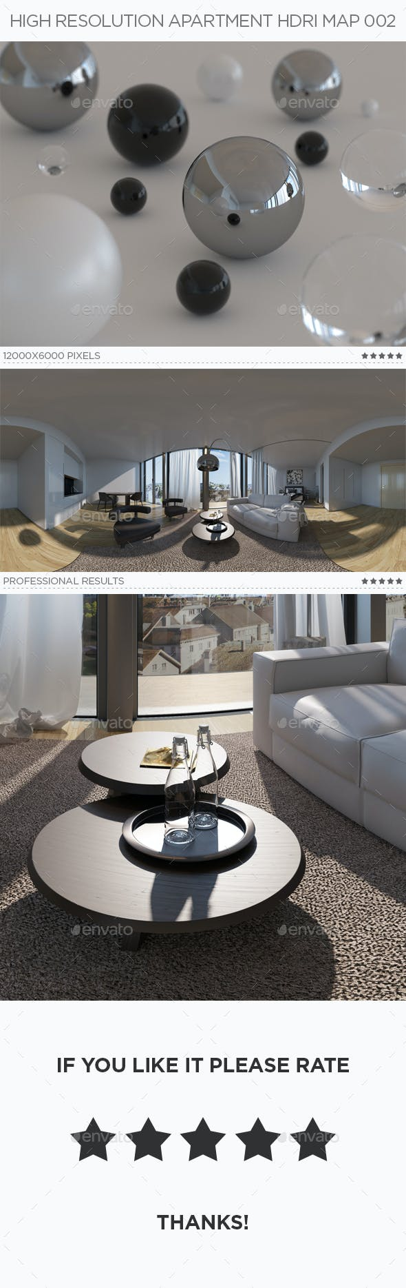 High Resolution Apartment HDRi Map 002 - 3DOcean Item for Sale