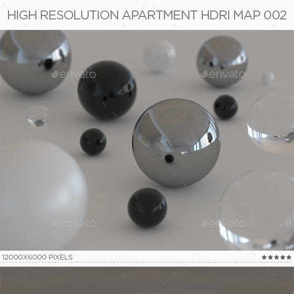 High Resolution Apartment HDRi Map 002