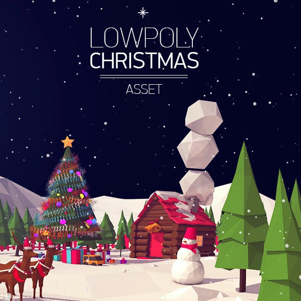 Low Poly Christmas Asset