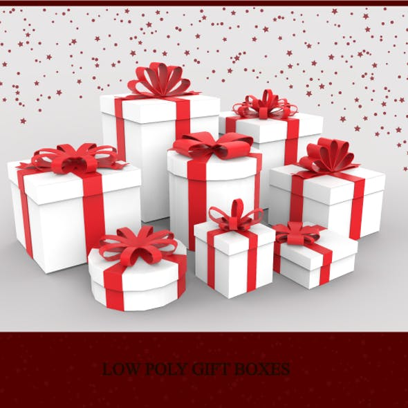 Low Poly Gift Boxes