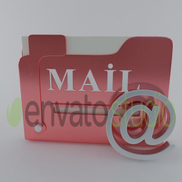 3d mail box icon model - 3DOcean Item for Sale
