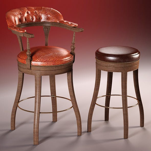 high quality 3d model of bar chairs the President