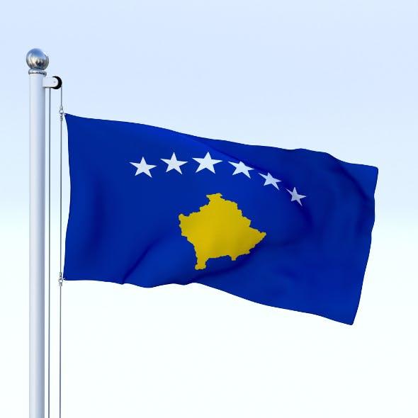 Animated Kosovo Flag