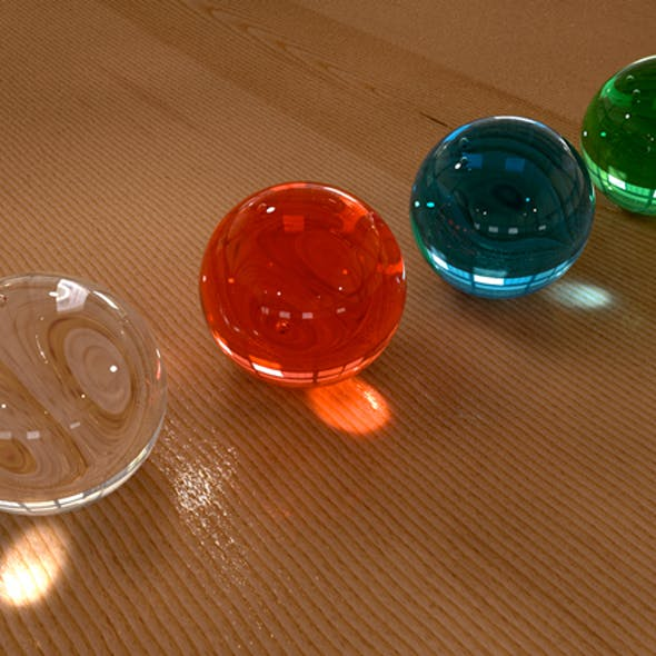 Glass Material (4 pack) for C4D
