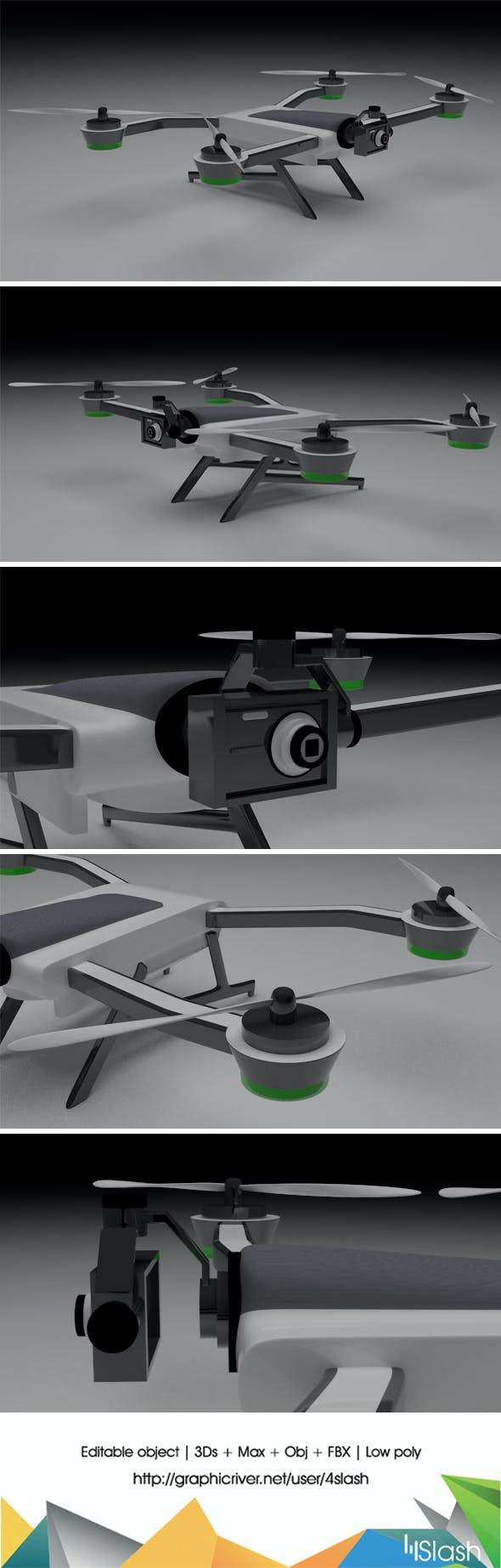 3d Karma Drone - 3DOcean Item for Sale