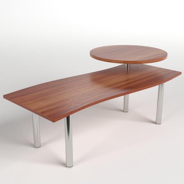 Desk with circular shelf 1