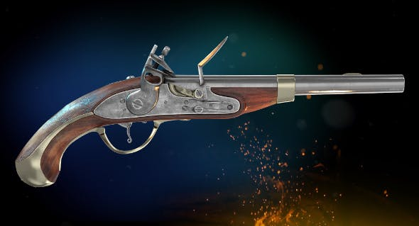 Flintlock Pistol - 3DOcean Item for Sale
