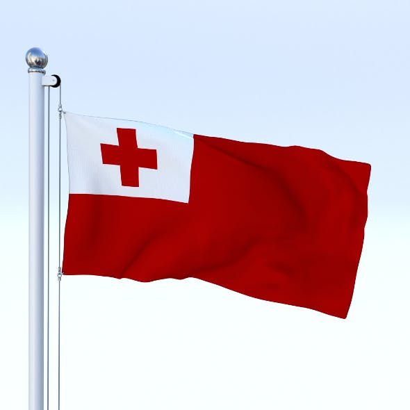 Animated Tonga Flag - 3DOcean Item for Sale