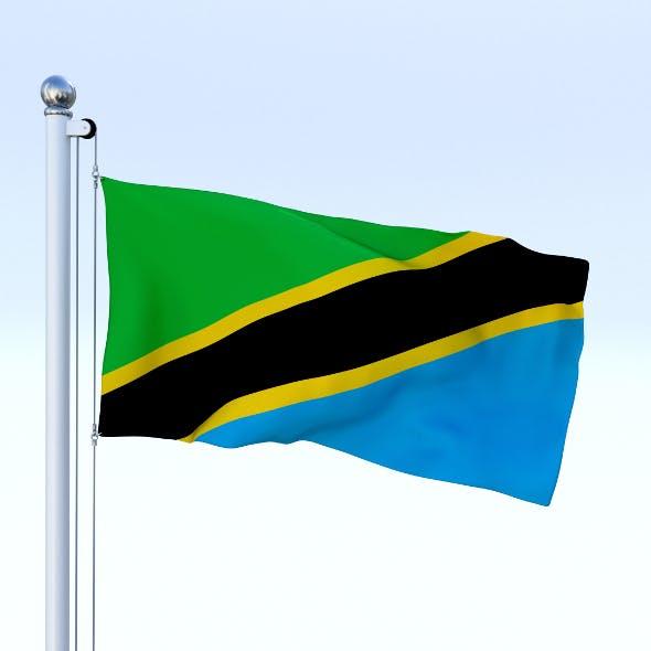 Animated Tanzania Flag - 3DOcean Item for Sale