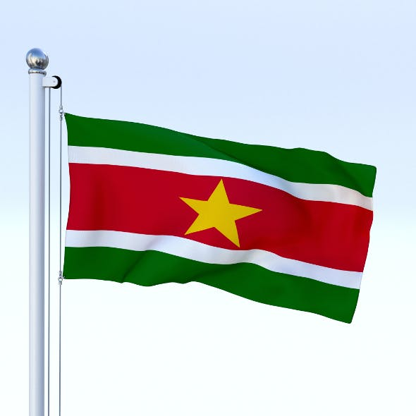 Animated Suriname Flag - 3DOcean Item for Sale