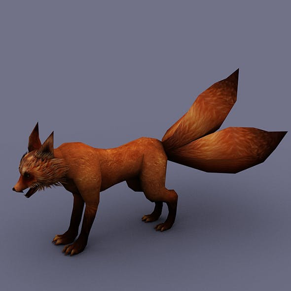 fox redhead - 3DOcean Item for Sale