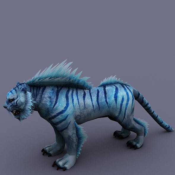 tiger blue - 3DOcean Item for Sale