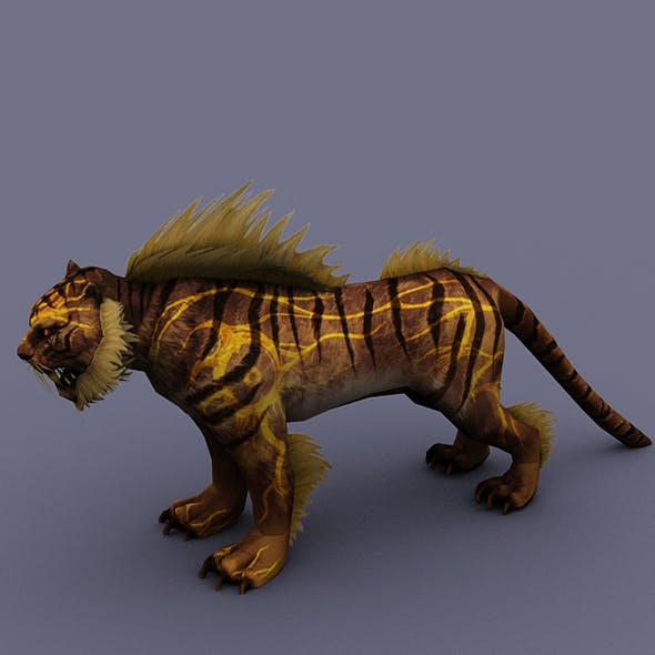 tiger yellow - 3DOcean Item for Sale