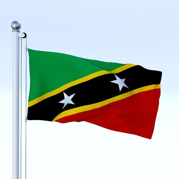 Animated Saint Kitts and Nevis Flag