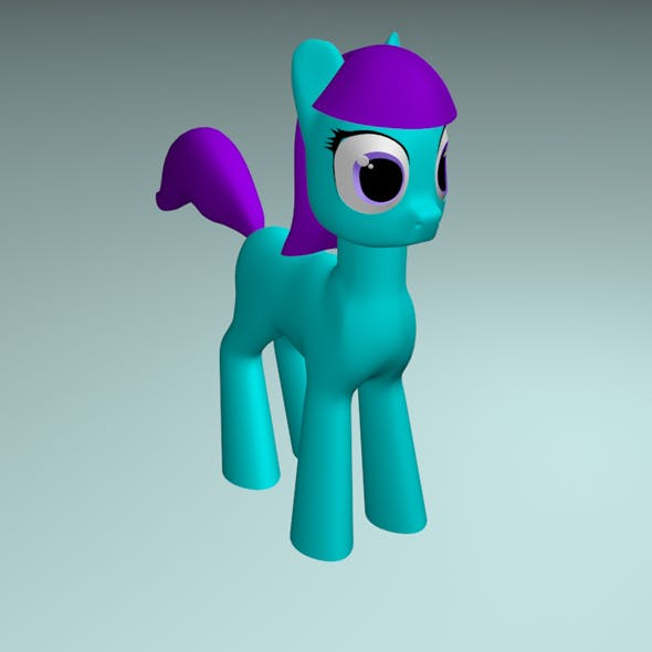 A cute cartoon pony.