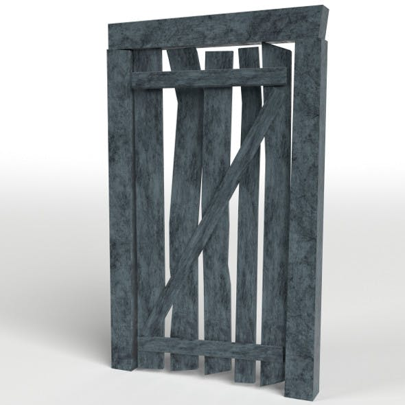 Mine Entrance Door - 3DOcean Item for Sale
