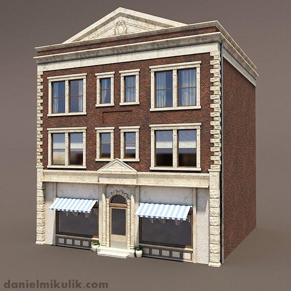 Apartment Building 156 Low Poly 3d Model