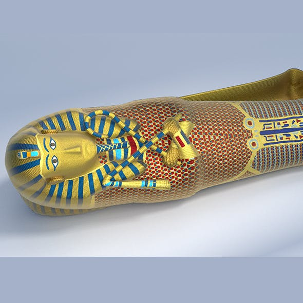 King Tutankhamun Sarcophagus - Game Ready