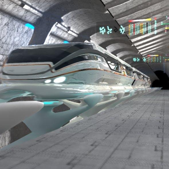 Train & station - 3DOcean Item for Sale