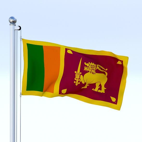 Animated Sri Lanka Flag