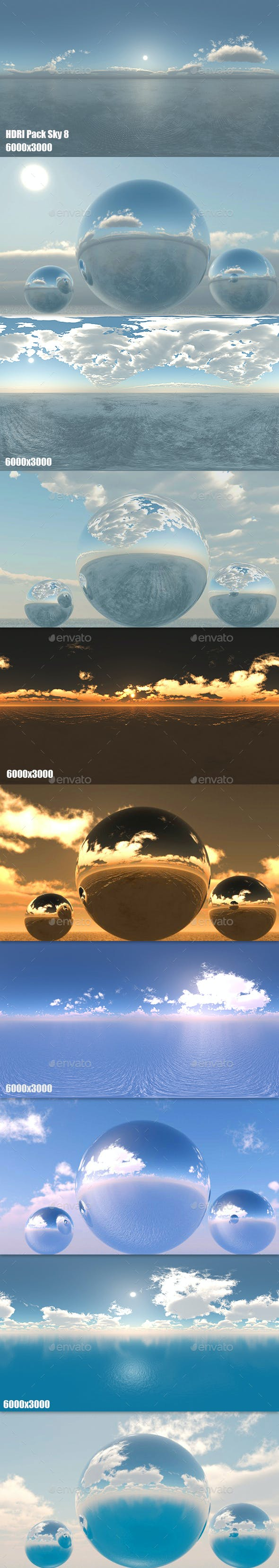 HDRI Pack Sky 8 - 3DOcean Item for Sale