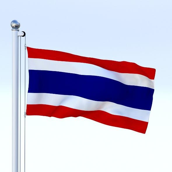 Animated Thailand Flag
