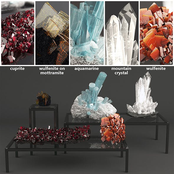 Set of Crystals