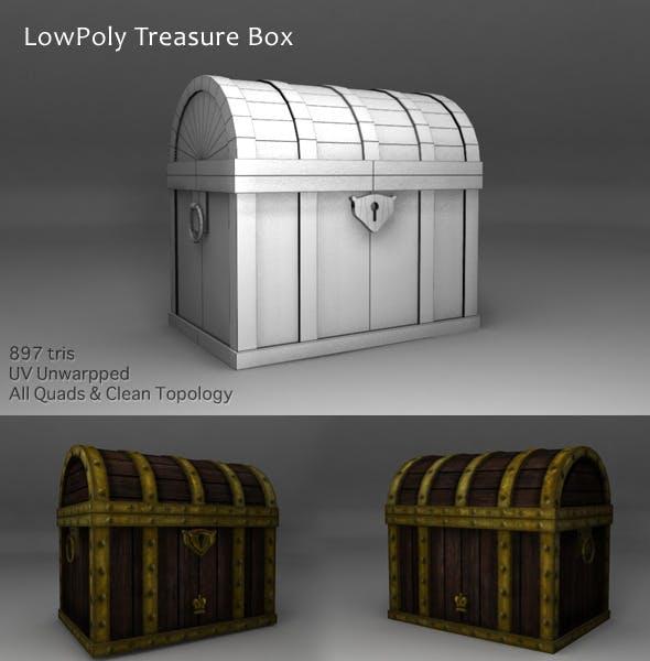 Treasure Box Low Polygons - 3DOcean Item for Sale