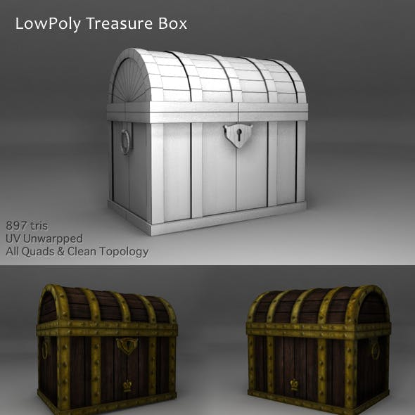 Treasure Box Low Polygons