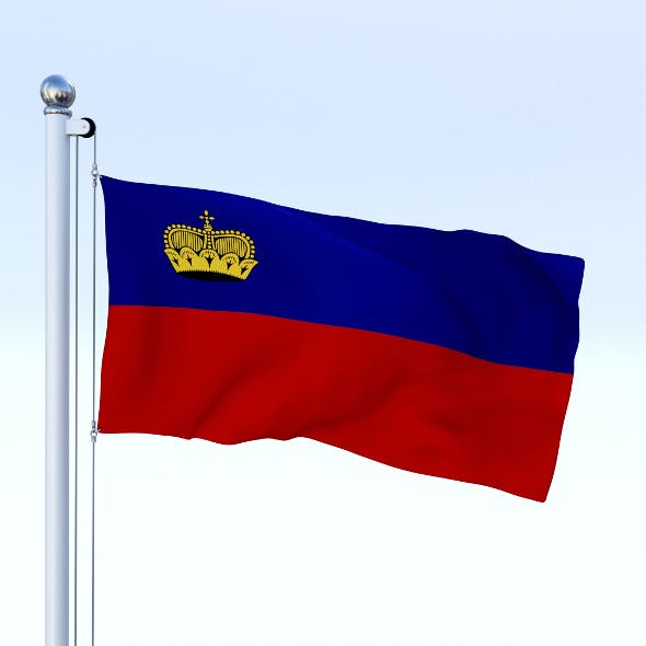 Animated Liechtenstein Flag - 3DOcean Item for Sale