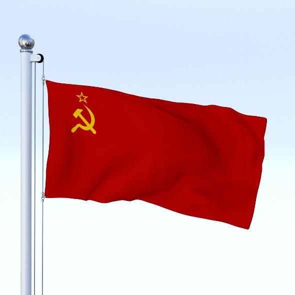Animated Soviet Union Flag - 3DOcean Item for Sale