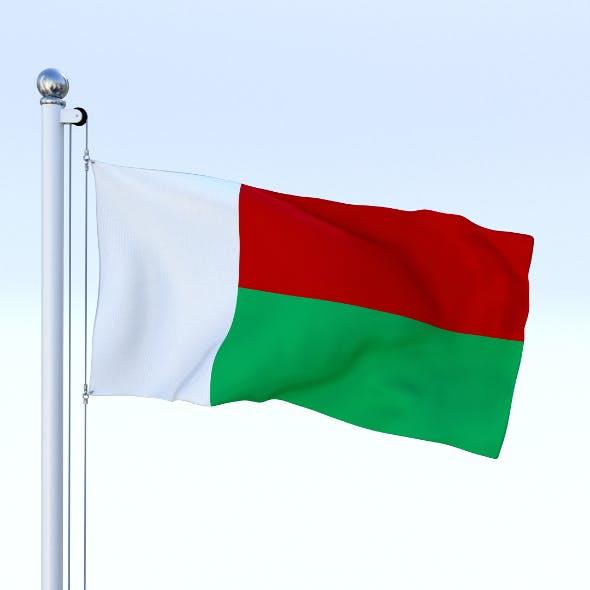 Animated Madagascar Flag - 3DOcean Item for Sale