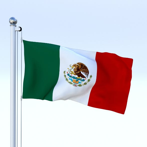 Animated Mexico Flag - 3DOcean Item for Sale