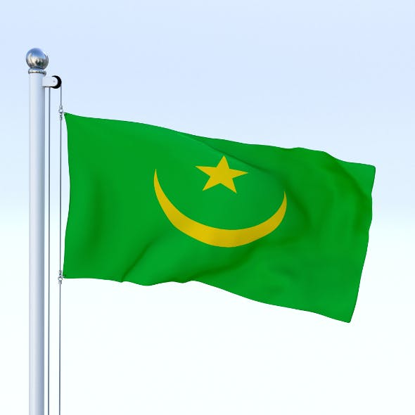 Animated Mauritania Flag - 3DOcean Item for Sale