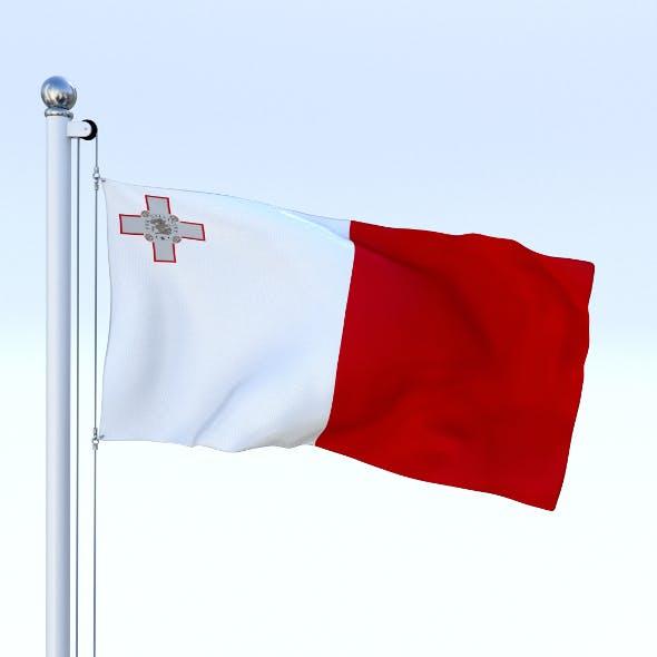 Animated Malta Flag - 3DOcean Item for Sale