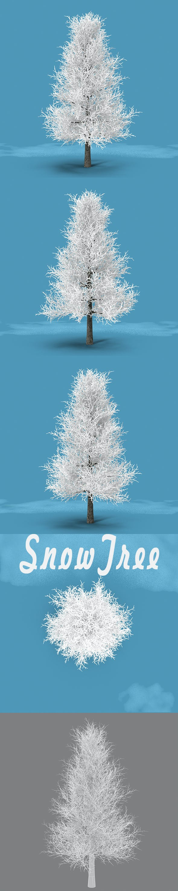 Snow Tree - 3DOcean Item for Sale