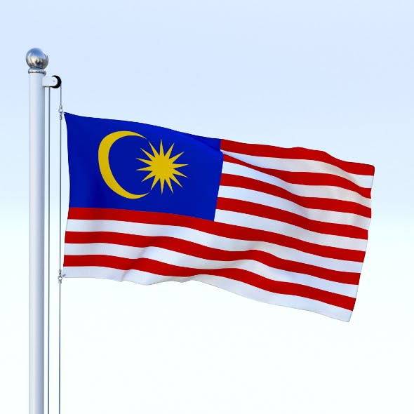 Animated Malaysia Flag - 3DOcean Item for Sale