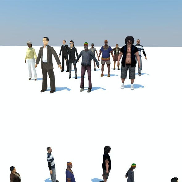 10 LOW POLY PEOPLE P1