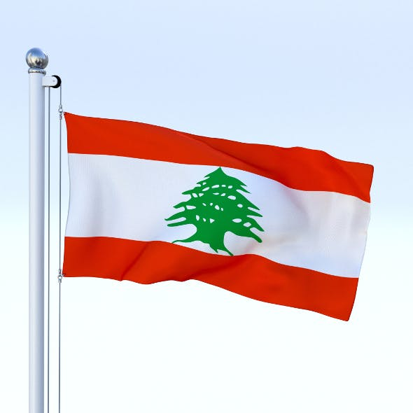 Animated Lebanon Flag - 3DOcean Item for Sale